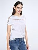 cheap Women's Blouses-Women's Blouse - Solid Colored Beaded V Neck