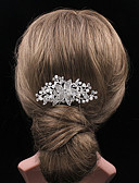 cheap Fashion Headpieces-Women's Classic Jewelry Fashionable Jewelry Silver Hair Comb - Solid Colored Pearl