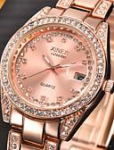abordables Relojes de Moda-Mujer Reloj de Pulsera Calendario / La imitación de diamante Acero Inoxidable Banda Encanto / Moda Plata / Dorado / Un año / SSUO 377