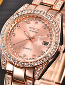 cheap Quartz Watches-Women's Wrist Watch Calendar / date / day / Imitation Diamond Stainless Steel Band Charm / Fashion Silver / Gold / One Year / SSUO 377