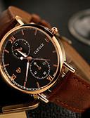 abordables Relojes de Vestir-YAZOLE Hombre Reloj de Pulsera Reloj Casual / / Cuero Auténtico Banda Casual / Reloj de Vestir Negro / Marrón / SSUO 377