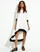 cheap Women's Dresses-Women's Simple Loose Dress - Patchwork Ruched / Fall