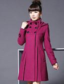 cheap Women's Coats & Trench Coats-Women's Vintage Coat - Solid Colored