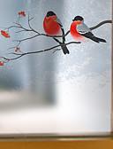 povoljno Ženski džemperi-Životinja Suvremena Film za prozor, PVC/Vinil Materijal prozor dekoracija Trpezarija Spavaća soba Ured Dječja soba Dnevna soba Kupka soba