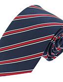 billige Slips og butterfly-Herre Fest Kontor Basale Slips - Polyester Stribet