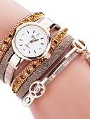 preiswerte Armband-Uhren-Damen Armband-Uhr Schlussverkauf / Cool / / PU Band Freizeit / Modisch Schwarz / Weiß / Blau