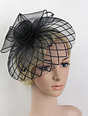 cheap Party Headpieces-Feather / Net Fascinators / Headwear with Floral 1pc Wedding / Special Occasion Headpiece