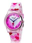 baratos Relógios Infantis-Relógio de Pulso Legal / Colorido Plastic Banda Heart Shape / Doce / Casual Rosa