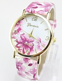 cheap Women's Dresses-Geneva Women's Wrist Watch Hot Sale / / Leather Band Flower / Casual / Fashion Multi-Colored