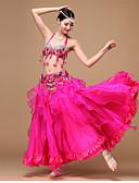 abordables Jerséis de Mujer-Danza del Vientre Accesorios Mujer Rendimiento Poliéster / Raso / Organza Cuentas / Lentejuela / Recogido Sin Mangas Cintura Baja Falda / Sujetadores / Cinturón