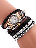 preiswerte Modische Uhren-Damen Armband-Uhr Schlussverkauf / Cool / / Leder Band Freizeit / Böhmische / Modisch Schwarz / Weiß / Blau / Ein Jahr / SSUO 377