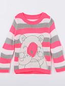 voordelige Meisjeskleding-Dagelijks Dierenprint Katoen Herfst Trui & Vest Rood