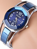 cheap Quartz Watches-Women's Bracelet Watch Simulated Diamond Watch Quartz Rhinestone Imitation Diamond Stainless Steel Band Analog Bangle Fashion Dress Watch Black / Blue - Black Blue Navy One Year Battery Life