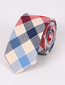 cheap Men's Ties & Bow Ties-Men's Party / Work / Basic Necktie - Plaid