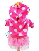 abordables Relojes Deportivo-Gato Perro Saco y Capucha Vestidos Ropa para Perro A Lunares Rosa Azul Rosa Pana Disfraz Para mascotas Mujer Bonito Moda