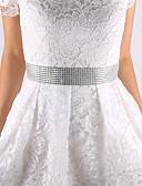 Χαμηλού Κόστους Κορδέλες για πάρτι-Σατέν Γάμου / Πάρτι / Βράδυ / Καθημερινή Ένδυση Ζώνη Με Διακοσμητικά Επιράμματα Γυναικεία Ζώνες για Φορέματα