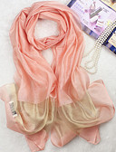 cheap Chic Chiffon Scarves-Women's Silk Cotton Rectangle - Solid Colored