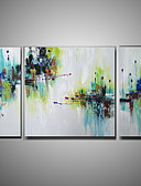 billige Gaveesker-Hang malte oljemaleri Håndmalte - Abstrakt Moderne Lerret