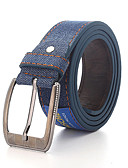 cheap Fashion Belts-Men's Work Alloy Waist Belt - Solid Colored / Denim