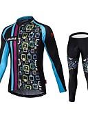 tanie Zegarki mechaniczne-Malciklo Męskie Długi rękaw Koszulka i spodnie na rower W stylu brytyjskim Rower Dżersej / Rajstopy szelkach / Zestawy odzieży, Wkładka 3D, Szybkie wysychanie, Oddychający Jedwab, Lycra Klasyczny