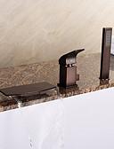 cheap Women's Nightwear-Bathtub Faucet - Antique Art Deco / Retro Modern Oil-rubbed Bronze Roman Tub Ceramic Valve