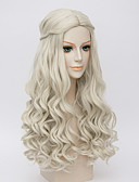 cheap Wedding Dresses-alice in wonderland movice white queen cosplay halloween natural centre parting wave costume wig anne hathaway s wigs Halloween