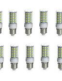 billige Kjoler-10pcs 10 W 850-950 lm E14 / G9 / GU10 LED-kolbepærer Tube 69 LED Perler SMD 5730 Vandtæt / Dekorativ Varm hvid / Kold hvid 220-240 V /