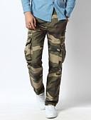 billige Herrebukser og shorts-Herre Aktiv Bomuld Ret Løstsiddende Lastbukser Bukser camouflage