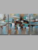 billige Hættetrøjer og sweatshirts til herrer-Hang-Painted Oliemaleri Hånd malede - Abstrakt Moderne Lærred