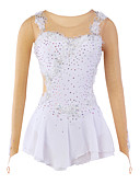 cheap Ice Skating Dresses , Pants & Jackets-Figure Skating Dress Women's / Girls' Ice Skating Dress White Flower Spandex, Mesh, Lace High Elasticity Training / Competition Skating Wear Breathable, Handmade Flower / Dumb Light Ice Skating
