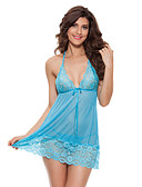cheap Men's Exotic Underwear-Women's Lace Sexy Babydoll & Slips / Ultra Sexy Nightwear Solid Colored
