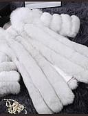 cheap Women's Fur Coats-Women's Vintage Plus Size Fur Coat - Solid Colored