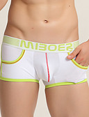 cheap Men's Underwear & Socks-Men's Boxer Briefs Color Block Mid Waist