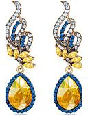 baratos Relógios Femininos-Mulheres Sapphire sintético Brincos Compridos - Cristal Fashion Azul Para Casamento Festa Diário