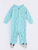 halpa Tyttöjen vaatteet-Vauva Eläinkuvio Yksiosaiset Päivittäin Puuvilla Syksy Pitkähihainen Vaalean vihreä