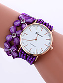 cheap Bracelet Watches-Women's Bracelet Watch Quartz Rhinestone PU Band Analog Flower Sparkle Casual Black / White / Blue - Red Pink Light Blue One Year Battery Life / Jinli 377