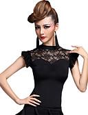 baratos Moda Íntima Exótica para Homens-Dança Latina Blusas Mulheres Espetáculo Náilon Chinês / Viscose Pregueado Blusa