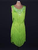 abordables Tenue de Danse Latine-Danse latine Robes Femme Utilisation Spandex / Dentelle Gland / Cristaux / Stras Sans Manches Taille haute Robe