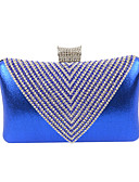 abordables Panties-Mujer Bolsos Terciopelo Bolso de Noche Cristal / Cristal Plata / Dorado / Azul Real