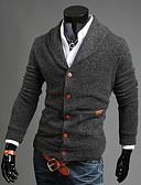 cheap Men's Sweaters & Cardigans-Men's Weekend Long Sleeves Slim Cardigan - Solid Colored