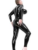 billiga Zentai-Ninja Vampyr Cosplay Kostymer / Dräkter Mer uniformer Jul Halloween Karnival Festival / högtid Päls outfits Svart Enfärgad
