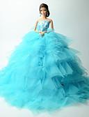 tanie Halki ślubne-Ślub Sukienki Dla Lalka Barbie Koronka / Organza Sukienka Dla Dziewczyny Lalka Zabawka