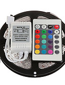 ieftine Rochii NYE-5m Bare De Becuri LED Rigide 300 LED-uri 3528 SMD RGB Telecomandă / Ce poate fi Tăiat / Intensitate Luminoasă Reglabilă 12 V / De Legat / Auto- Adeziv / Schimbare - Culoare / IP44