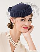 זול שמלות לאם הכלה-צמר / רשת מפגשים / כובעים / ביגוד לראש עם פרחוני 1pc חתונה / אירוע מיוחד / קזו'אל כיסוי ראש