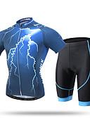 abordables Vestidos de Mujeres-XINTOWN Hombre Manga Corta Maillot de Ciclismo con Shorts - Negro Bicicleta Shorts/Malla corta Pantalones Cortos Acolchados