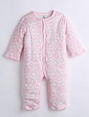 halpa Tyttöjen vaatteet-Vauva Yksiosaiset Päivittäin Puuvilla Talvi Pitkähihainen Pinkki