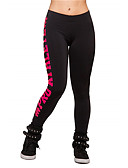 abordables Leggings para Mujer-Mujer Estampado Un Color Legging - Letra, Estampado