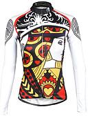 お買い得  ガールズファッション-ILPALADINO 女性用 長袖 サイクリングジャージー - ルビーレッド バイク ジャージー, 速乾性, 抗紫外線, 高通気性