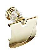 ieftine Accesorii toaletă-Suport Hârtie Toaletă Contemporan Alamă Cristal 1 piesă - Hotel baie