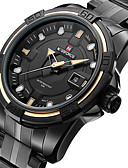 cheap Watch Accessories-Men's Sport Watch / Military Watch / Wrist Watch Calendar / date / day / LED / Cool Stainless Steel Band Charm / Luxury / Vintage Black / Maxell2025 / Two Years